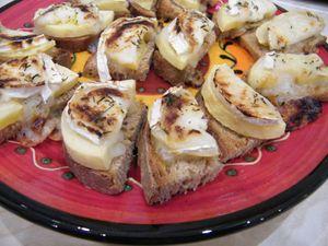 Gourmandise pomme-chèvre-miel-huile-d'olive !
