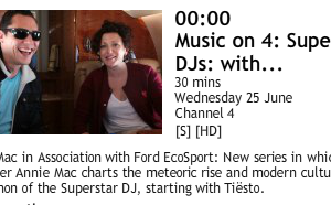 Tiësto with Annie Mac on Channel 4 - 25 june 2014