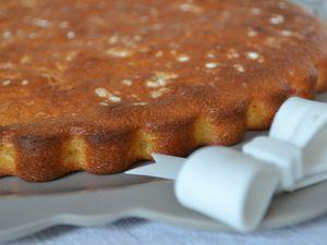 Gâteau au yaourt, amandes et groseilles