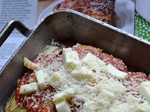 Parmigiana pugliese con mozzarella