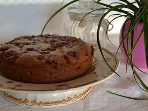 Brownie aux framboises et aux groseilles
