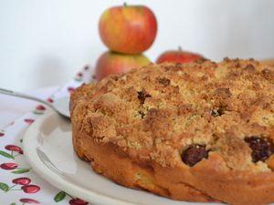 Gâteau alsacien aux pommes cerises  et streussel