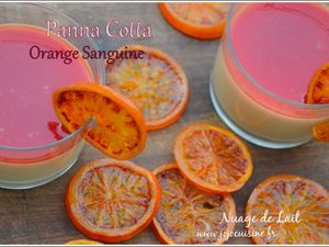 Panna Cotta à l'Orange Sanguine et sirop d'orange