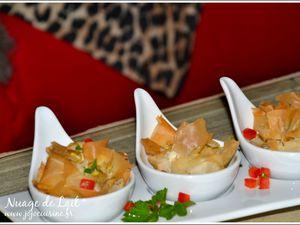 Pastilla au Confit de Canard et Foie Gras version bouchées apéritives