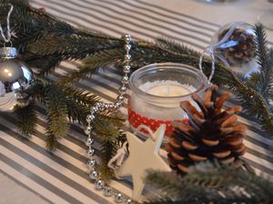 Décoration de table festive {Noel} 2014