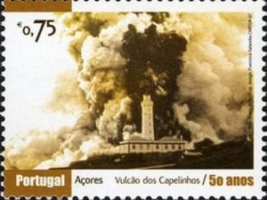 For volcanophilatélistes - commemorative stamps 50th anniversary of the eruption