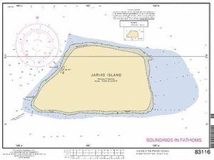 Carte de Jarvis island.- un clic pour agrandir.