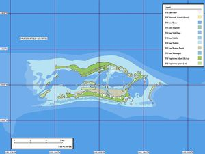 Left, maritime map of Palmyra - Doc. NOAA - right, Palmyra - doc Marplot Map (1-50.000) - Pjminton - one click to enlarge