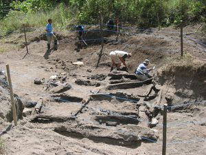 Excavations of Tambora - area bounded by teams from the University of Rhode Island and result of excavations. - A click to view - Photo URI news