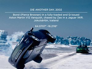 "Photos of the film ""Die another day"" / 007."