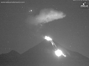 Colima - lava and block avalanches on 11/24/2016 / 22h and 11.25.2016 / 02h -  a click to enlarge - WebcamsdeMexico