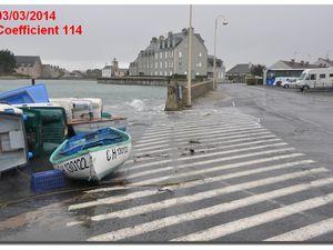 Une marée de vive eau, coefficient 114