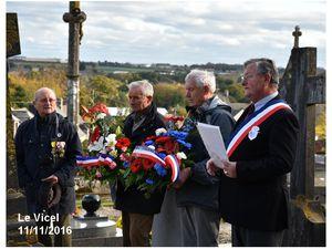 Le Vicel : commémoration armistice 1918