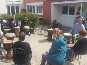 Atelier percussion en plein air
