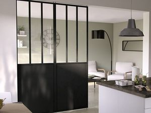 mes cuisine en travaux cloison industrielle vitr e. Black Bedroom Furniture Sets. Home Design Ideas