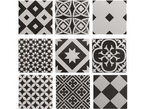 carrelage Leroy Merlin Gatsby Artens noir patchwork style carreaux de ciment