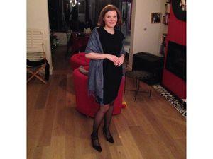 Ma petite robe noire fifties Promod et pashmînâ de Madrid. Tenue de fête à moins de 49€