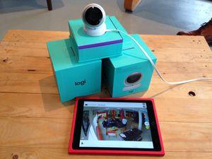 Découverte de la caméra de surveillance Logi Circle Logitech, à Bruxelles avec enfants