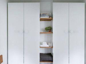 placards dressing en bois blanc IKEA, Leroy Merlin