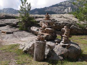 Plateau rocheux au-dessus des Gorges de l'Aïtone. Haute-Corse.