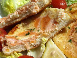 Croque - quiches au saumon fumé.