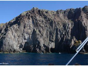 En bateau vers le Stromboli