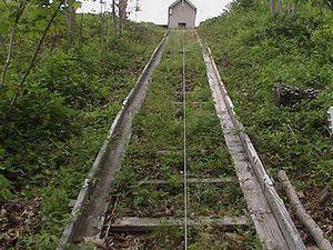 Exemples de rails en bois conservés au Tennessee et, plus rustique, au Canada.