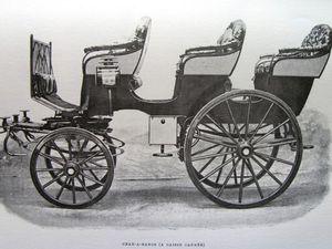 Quelques types de voitures utilisées à la cour, extraites de l'article: Les voitures des écuries de Napoléon III.Quelques