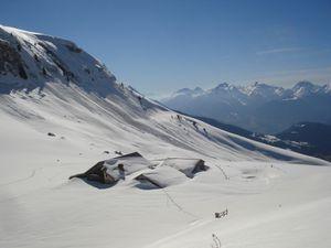 Les chalets d'alpage de Sur le Treu et la pointe de la Mandallaz