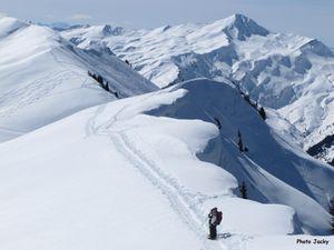 Vers le sommet et sur la crête