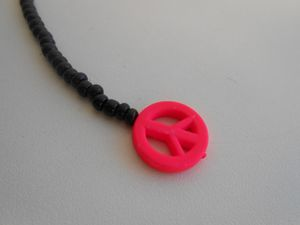 DIY: Sautoir &quot&#x3B;peace and love&quot&#x3B;