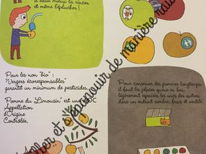 [Biblio] Un livre pour connaître ce que l'on mange : Les Pommes! (éditions Ricochet)