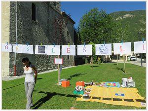 Saint André les Alpes : Le livre est dans le pré