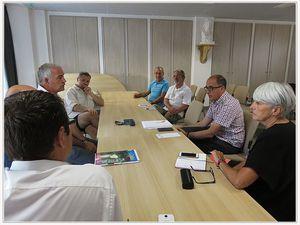 Saint André les Alpes : Le sénateur Jean-Yves Roux accueilli par le Conseil Municipal