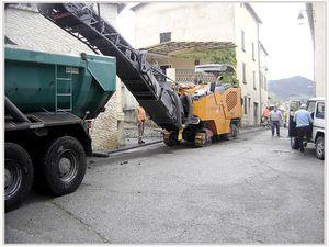 Barrême travaux dans les rues du village