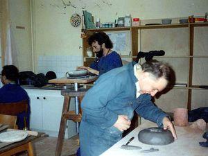Michel, Maurice et Patrick L. autour de Gilles C. - Maurice à l'affinage...