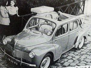 Un indéniable succès commercial avec ce mérite d'avoir démocratisé l'automobile, la 4CV RENAULT est sans consteste un jalon qui fait date dans la grande histoire de l'Aventure Automobile ... Une adorable petite voiture !
