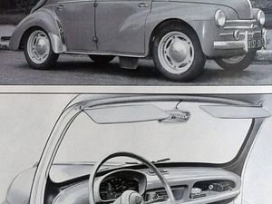 """Modèles 1956 à 1961 Il y eut pas mal de version différente de la  4CV """"Affaire"""", passant par la """"Normale""""  puis la Luxe et Super Luxe jusqu'à la sémillante Découvrable."""