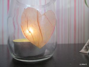 DIY : Photophore et pétale de rose