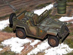 La GAZ 67 TAMIYA 1/48 achevée avec son voile de vernis mat GUNZE H20