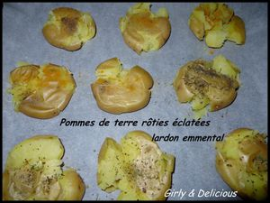 pommes de terre r ties clat es lardon emmental girly and delicious. Black Bedroom Furniture Sets. Home Design Ideas