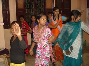 Danse Katthak avec Padmini.