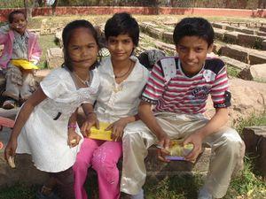 Sarnath : Pause casse croute.