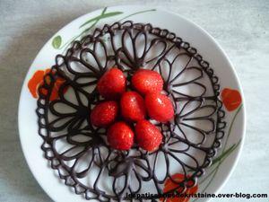 Napperon en chocolat