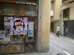 Collage dans les rues de Barcelone