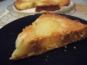 Tarte Bourdaloue (poires pochées au sirop épicé)