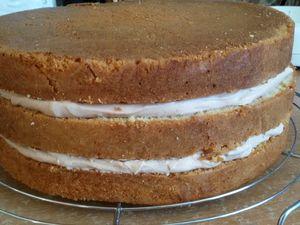 Gâteau Reine des neiges ( Pâte à sucre )