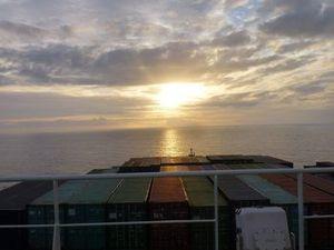 Lever de soleil dans la Manche