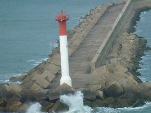 Phares à l'entrée du port de Dunkerque