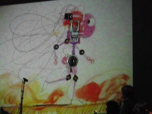 Concert-dessin - moment hyper sympa pour OrZéWaLy, ça correspondait tout à fait à leur monde, du coup on repart avec livre dédicacé &#x3B;)